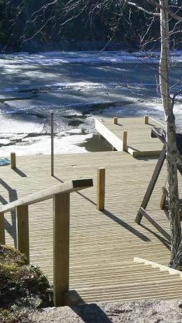 Appiukon ja Anopin uusi laituri  ja portaat